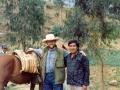 O. Zbigniew z wójtem podczas wyprawy do odległej wioski