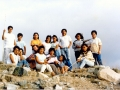 O. Michał z młodzieżą w górach niedaleko Pariacoto - kwiecień 1990r.