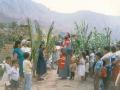 O. Michał święci palmy w Niedzielę Palmową